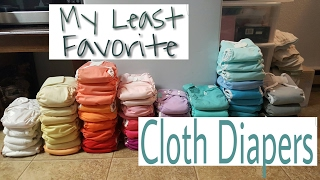 My LEAST Favorite Cloth Diapers and Inserts (And a few favorites!)