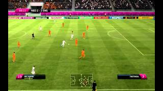Uefa Euro 2012 gameplay - England-Netherlands (PC) [HD]