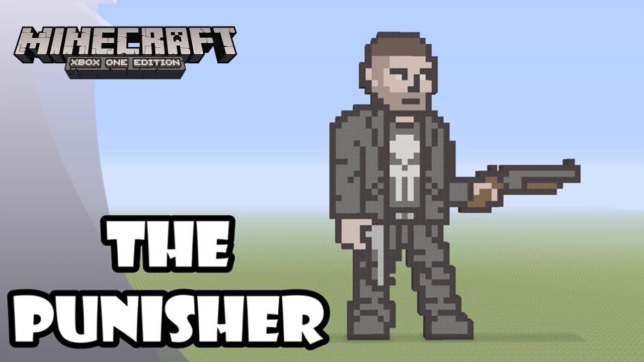Minecraft: Pixel Art Tutorial and Showcase: THE PUNISHER ...