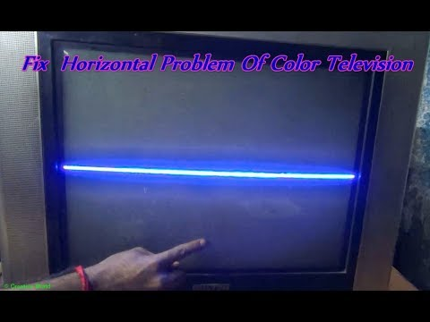 How To Repair Horizontal Lines Of Color Television (Part 1) - Bengali  Tutorial
