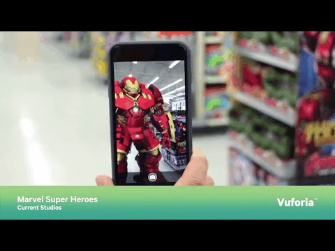 Marvel Super Heroes – Augmented Reality for Retail – Vuforia