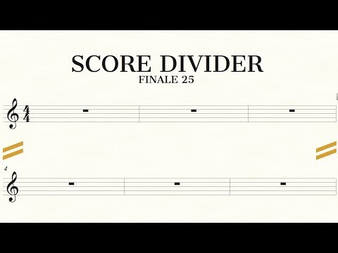 Score System Divider | Finale Superuser