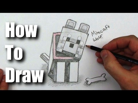 Как нарисовать собаку в майнкрафте