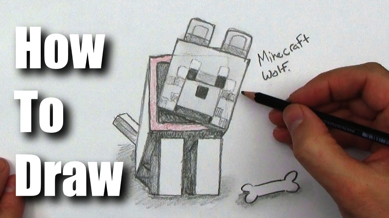 How to draw a wolf from minecraft youtube ccuart Gallery