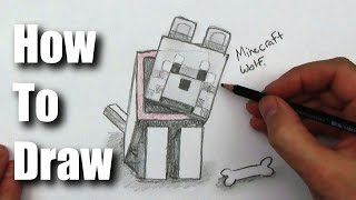 How To Draw a Wolf from Minecraft