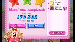 Candy Crush Saga Level 866     ★★★   NO BOOSTER