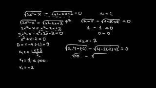 Математика 9 клас. Задачи от ирационални у-ния с 2 радикала.