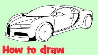 How to draw a car Bugatti Chiron