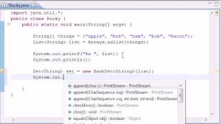 Intermediate Java Tutorial - 16 - HashSet
