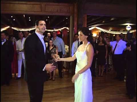 Joe and Jen's surprise first dance wedding, amazing, paradise by the dashboard light