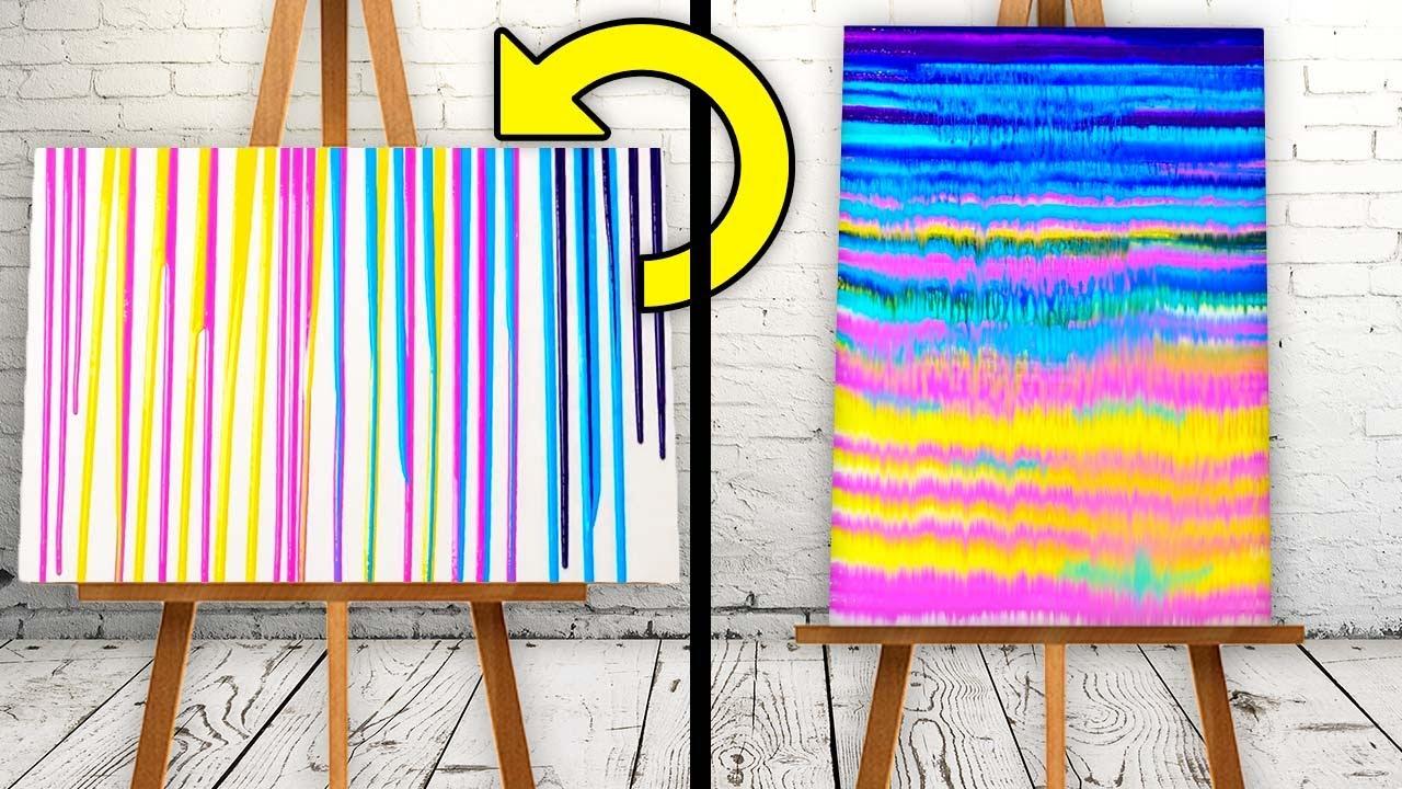 Relaxing Acrylic Pour Painting    27 UNBELIEVABLY SIMPLE DECOR DIYs