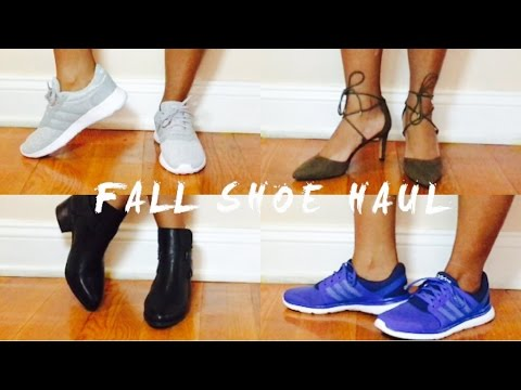 FALL SHOE HAUL & TRY ON | ADIDAS PUMA CONVERSE & MORE