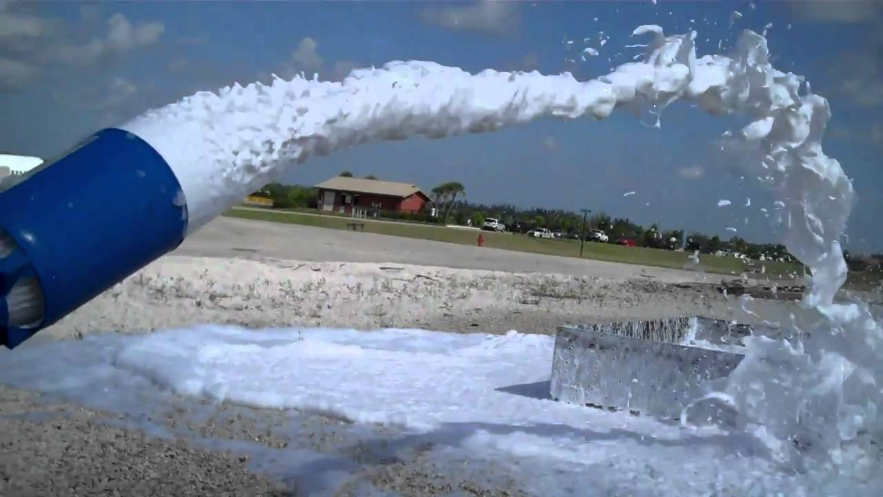 Foam from the tft jet nozzle youtube