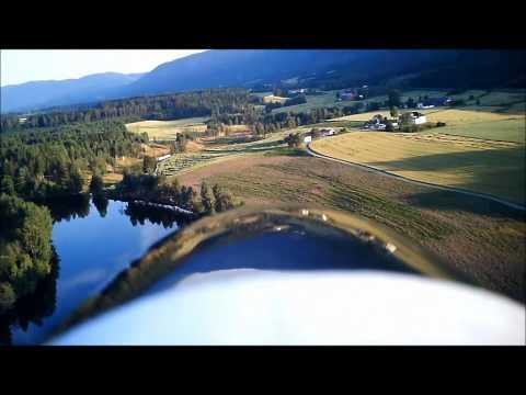 AXN Floater-Jet over KMFK Field (onboard keychain camera)