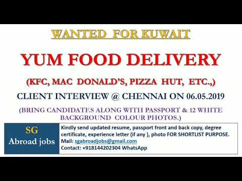 System Admin, Accountant and more job  Yum Food Deliver company in Kuwait