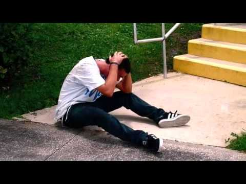 skateboarder hits head hard on double set