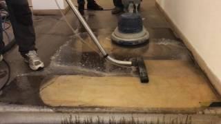 Hloubkové sanační čištění pískovcových schodů