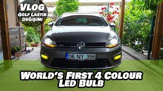 World's First 4 Colour Led Headlight Bulb | Golf R Tire Change | Vlog (Altyazılı)