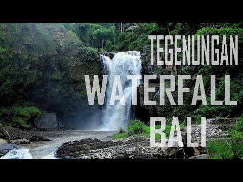 Tegenungan Waterfall Air Terjun Tegenungan Gianyar Bali Explore Bali Youtube