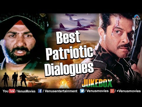 Best Patriotic Dialogues | Sunny Deol & Anil Kapoor | Tribute To Soldiers | Dialogues Movie Scenes