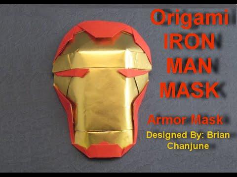 Origami Iron Man Mask HD