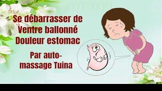 Auto massage pour soulager la douleur dans l'estomac