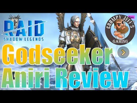 Raid Shadow Legends Godseeker Aniri Champion Review