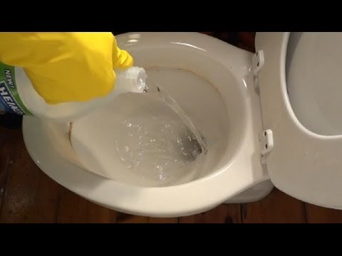 How To Remove Hard Water Stains From Toilet Bowl YouTube - Best bathroom cleaner for hard water