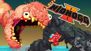 Nidhogg 2 Gameplay German - Der WaWa Willie Regenbogen Kampf