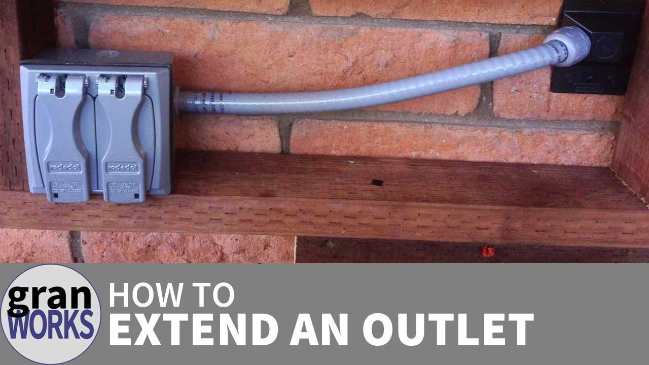 how to extend an electrical outlet youtube rh youtube com outside electrical wiring pole to house outside electrical wiring diagrams