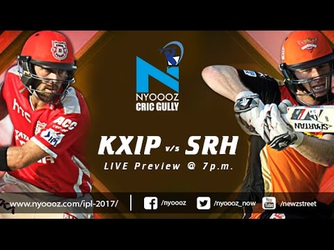 Live IPL T20 Cricket : Kings XI Punjab vs Sunrisers Hyderabad match preview on Cric Gully