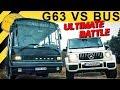 G63 AMG vs BUS? | Dumm Tüch gegen die neue G-Klasse!
