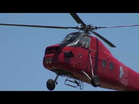 Sikorsky H-34 Choctaw S-58 N1168U Aris helicopter fly by