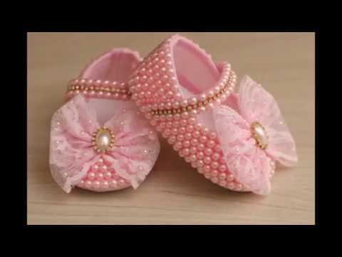 23466f8ab اجمل احذية بيبيهات , شوزات بنات حديثي الولادة , جزم بنات اطفال , baby shoes