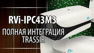 Обзор. IP камера RVI IPC43M3. Полная интеграция с TRASSIR