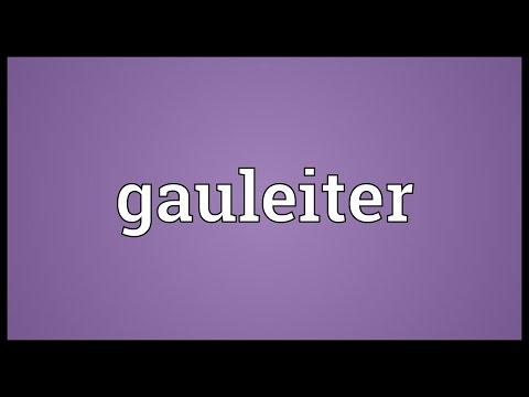 Header of Gauleiter