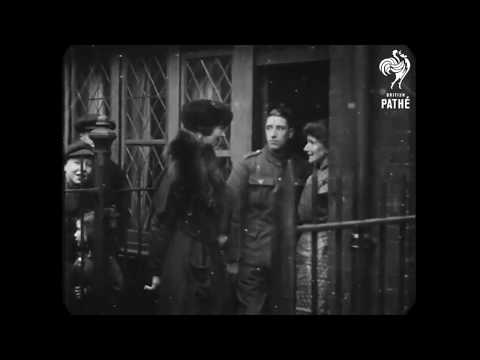 1917 - Consuelo Vanderbilt visits Southwark, London (speed corrected w/ added sound)