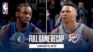 Full Game Recap: Timberwolves vs Thunder   Wiggins Drops 40 In OKC