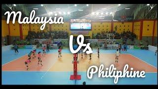 Philiphine vs Malaysia VOLLEY BALL WOMEN'S ASEAN SCHOOL GAMES 2019