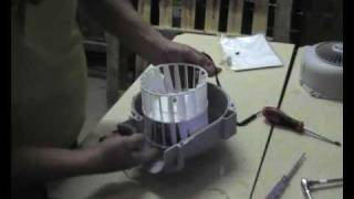 How to replace a fan motor in a cooker hood.