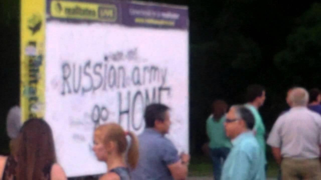 Concert pro Rusia și acțiune contra armatei ruse
