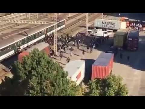 Basel fans vs Grasshopper Club Zurich on railroad