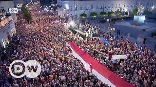 Массовые протесты в Польше  голос оппозиции все громче