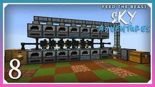 FTB Sky Adventures | Creosote Oil Drum Production! | E08 (FTB Skyblock 1.12.2)