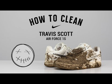 How to Clean Nike Travis Scott Air Force 1 With Reshoevn8r