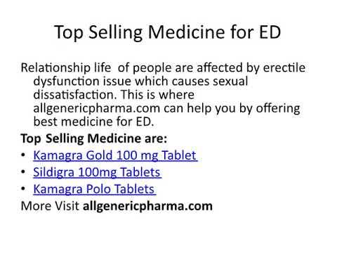 Best Online Pharmacy for Erectile Dysfunction Medicine - Allgenericharma