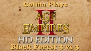 Colma Plays Age of Empires 2 - Game 1 - Black Forest 3vs3