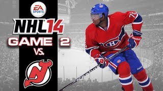 let s play nhl 14 game 2 vs new jersey devils need a big save