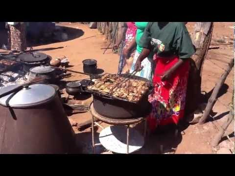 Cooking at a Zimbabwean village