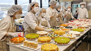 Amazing Strawberry Cake Production Factory!! Famous cute and delicious strawberry cake